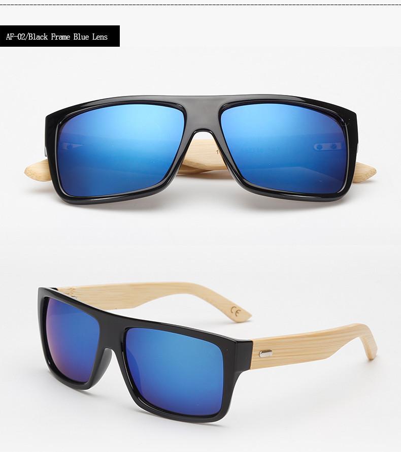 d65e5e8d4a Gafas de Sol policarbonato patilla bamboo azul - FRIKI CORNER