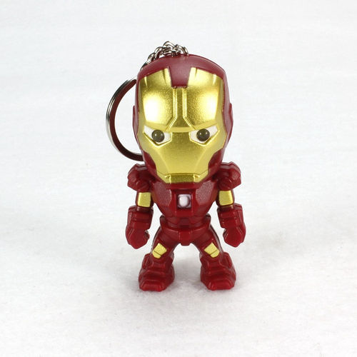 Llavero Iron Man, musical, ojos led