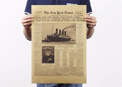 Poster The New York Times Naufragio Titanic