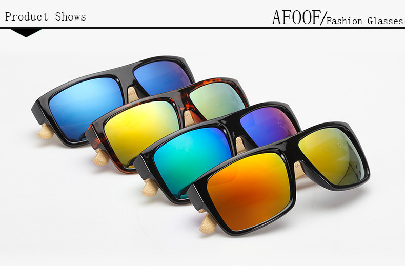 c2d92c678f Gafas de Sol policarbonato patilla bamboo verde - FRIKI CORNER