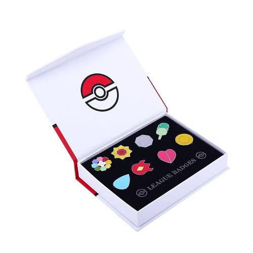 Caja Medallas Pokemon Liga Kanto League Badget