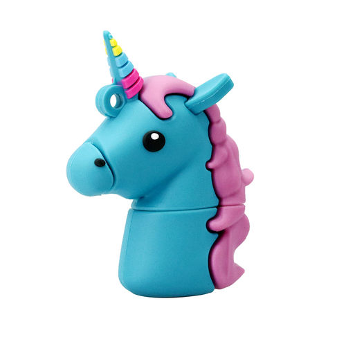 USB,PenDrive 8 GB Unicornio, Azul, Flash Drive,