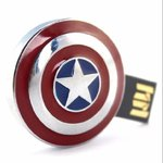 USB, Pendrive 8 GB Capitan America, Flash Drive